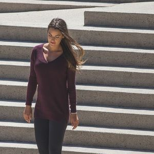 Lululemon The Sweater Life Cashmere Blend Red